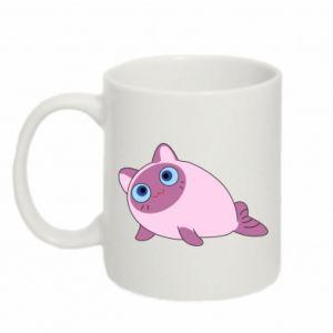 Mug 330ml Purple cat mermaid