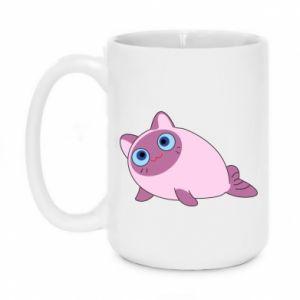 Mug 450ml Purple cat mermaid - PrintSalon