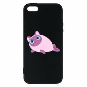 Etui na iPhone 5/5S/SE Purple cat mermaid