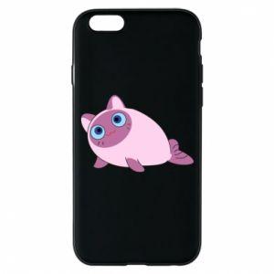 Etui na iPhone 6/6S Purple cat mermaid