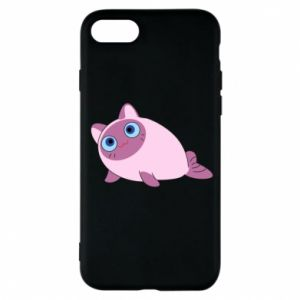 Etui na iPhone 7 Purple cat mermaid