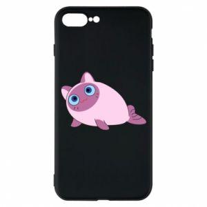 Etui na iPhone 7 Plus Purple cat mermaid