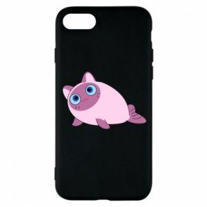 Etui na iPhone 8 Purple cat mermaid