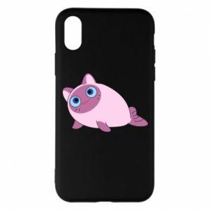 Etui na iPhone X/Xs Purple cat mermaid