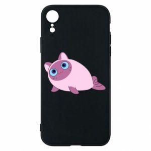 Etui na iPhone XR Purple cat mermaid