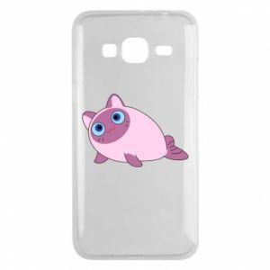 Etui na Samsung J3 2016 Purple cat mermaid