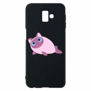 Etui na Samsung J6 Plus 2018 Purple cat mermaid