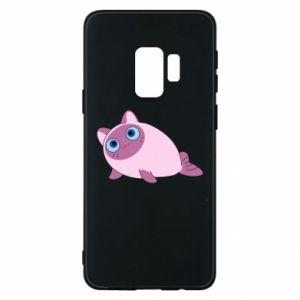 Etui na Samsung S9 Purple cat mermaid