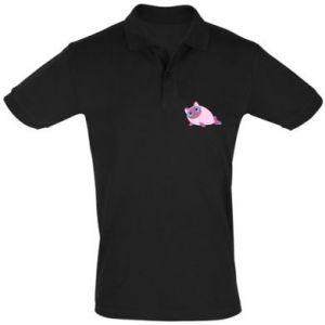 Men's Polo shirt Purple cat mermaid - PrintSalon