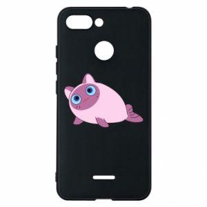 Etui na Xiaomi Redmi 6 Purple cat mermaid