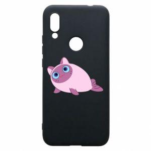 Etui na Xiaomi Redmi 7 Purple cat mermaid