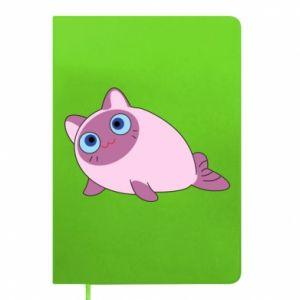 Notepad Purple cat mermaid
