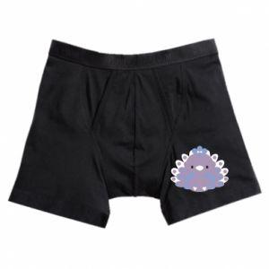 Boxer trunks Purple peacock - PrintSalon
