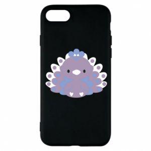 Phone case for iPhone 8 Purple peacock - PrintSalon