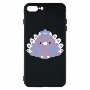 Phone case for iPhone 8 Plus Purple peacock - PrintSalon