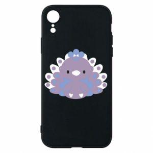 Phone case for iPhone XR Purple peacock - PrintSalon