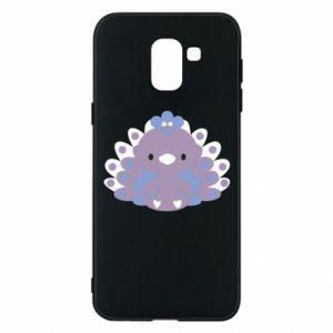 Phone case for Samsung J6 Purple peacock - PrintSalon