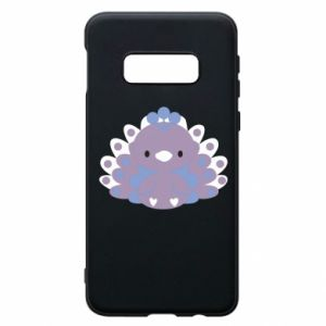 Phone case for Samsung S10e Purple peacock - PrintSalon