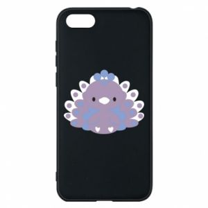 Phone case for Huawei Y5 2018 Purple peacock - PrintSalon