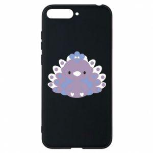 Phone case for Huawei Y6 2018 Purple peacock - PrintSalon