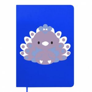 Notepad Purple peacock - PrintSalon