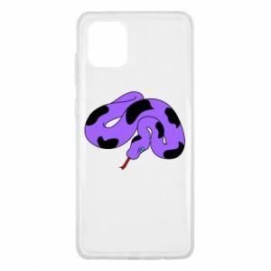 Etui na Samsung Note 10 Lite Purple snake