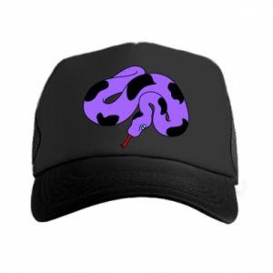 Trucker hat Purple snake