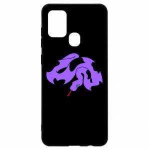 Etui na Samsung A21s Purple snake