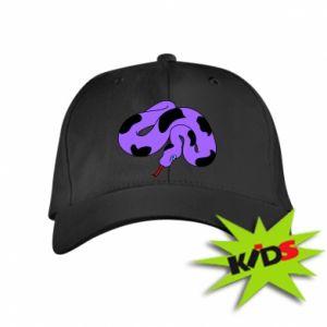 Kids' cap Purple snake