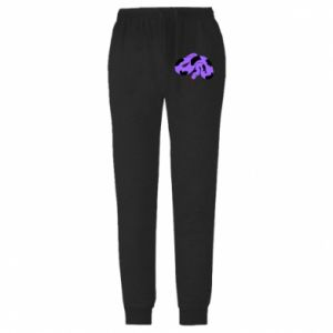 Męskie spodnie lekkie Purple snake