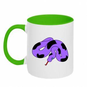 Two-toned mug Purple snake