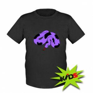 Kids T-shirt Purple snake