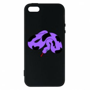Phone case for iPhone 5/5S/SE Purple snake