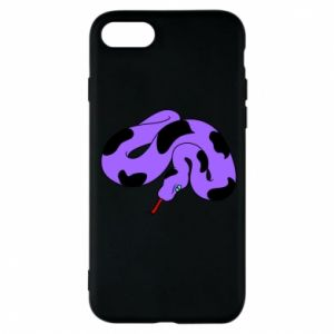 Phone case for iPhone 8 Purple snake