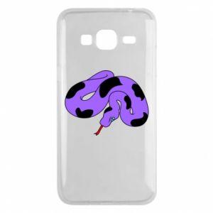 Phone case for Samsung J3 2016 Purple snake