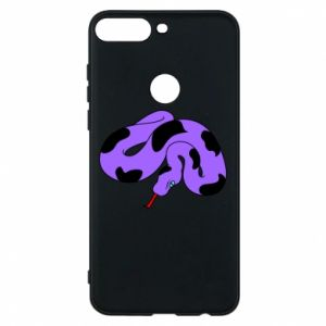 Phone case for Huawei Y7 Prime 2018 Purple snake