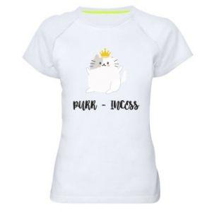 Damska koszulka sportowa Purr-incess