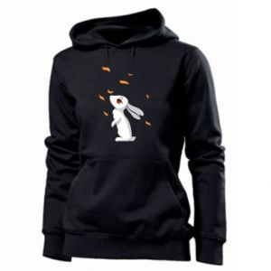 Women's hoodies Rabbit looks at the leaves