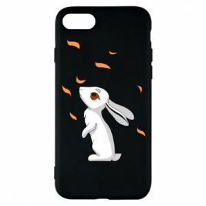 Phone case for iPhone 8 Rabbit looks at the leaves - PrintSalon