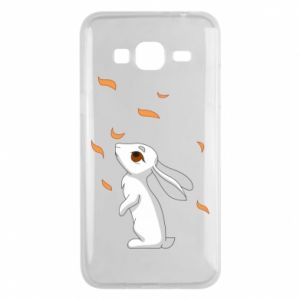 Phone case for Samsung J3 2016 Rabbit looks at the leaves