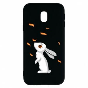 Phone case for Samsung J3 2017 Rabbit looks at the leaves