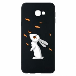 Phone case for Samsung J4 Plus 2018 Rabbit looks at the leaves - PrintSalon
