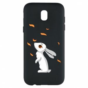 Phone case for Samsung J5 2017 Rabbit looks at the leaves
