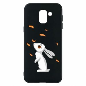 Phone case for Samsung J6 Rabbit looks at the leaves