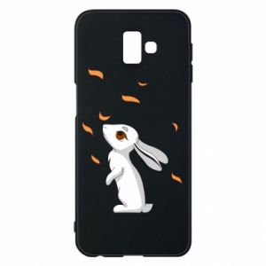 Phone case for Samsung J6 Plus 2018 Rabbit looks at the leaves - PrintSalon