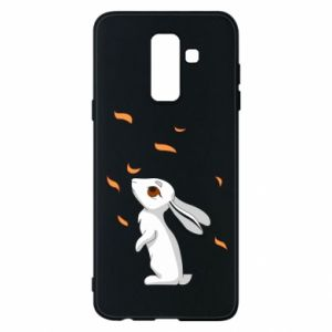 Phone case for Samsung A6+ 2018 Rabbit looks at the leaves - PrintSalon