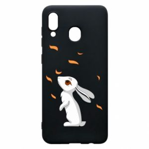 Phone case for Samsung A20 Rabbit looks at the leaves - PrintSalon