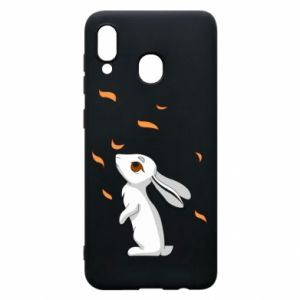 Phone case for Samsung A30 Rabbit looks at the leaves - PrintSalon