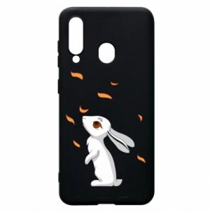 Phone case for Samsung A60 Rabbit looks at the leaves - PrintSalon