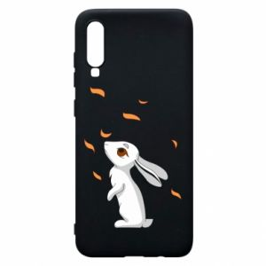 Phone case for Samsung A70 Rabbit looks at the leaves - PrintSalon